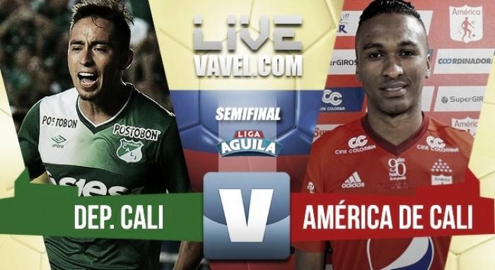 Deportivo Cali, primer finalista de la Liga Águila (2-0)