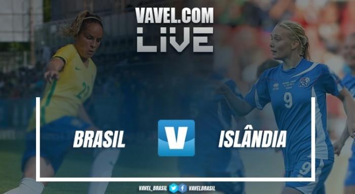 RESULTADO Brasil 1x0 Islândia em amistoso internacional feminino