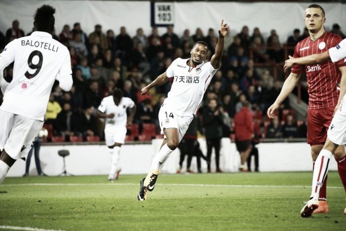 Pléa marca duas vezes e Nice derrota Zulte Waregem com facilidade pela Europa League