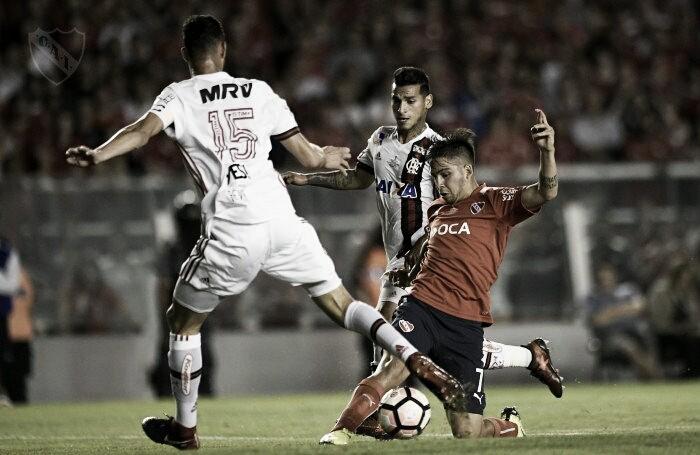 El Rojo le ganó al Flamengo en la primera final de la Copa Sudamericana