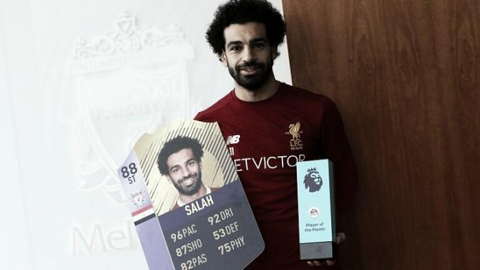 Mohamed Salah, mejor jugador de noviembre