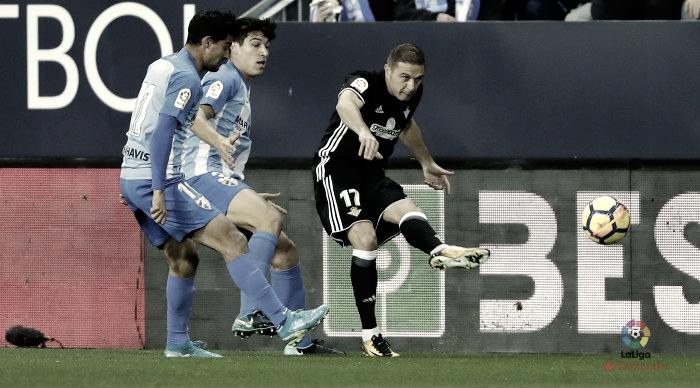 El Málaga decepciona en su último partido en casa en 2017