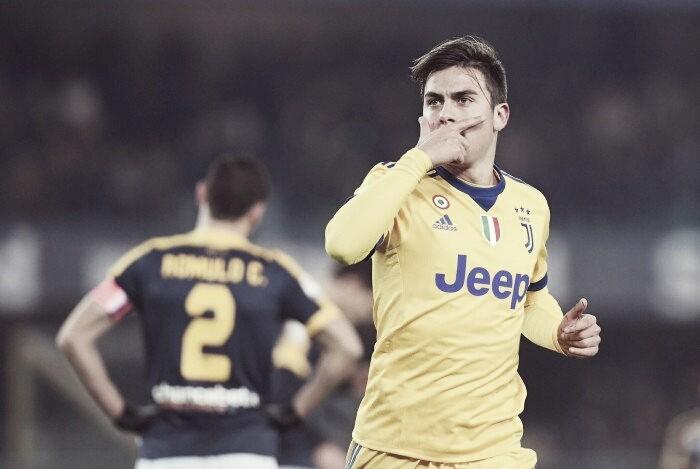 Dybala brilha, Juventus vence e quebra tabu de uma década contra o Hellas Verona