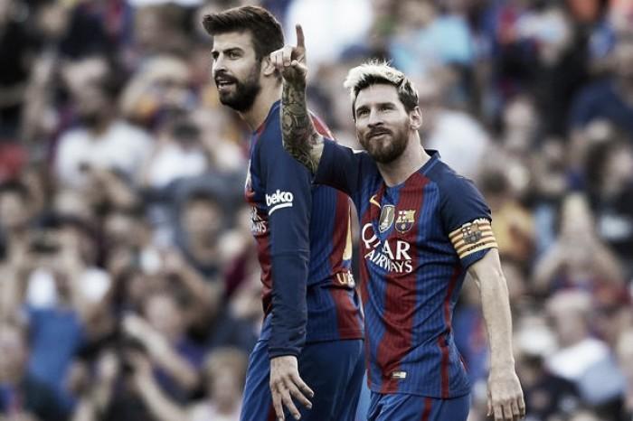 La Liga denuncia insultos contra Messi e Piqué no El Clásico