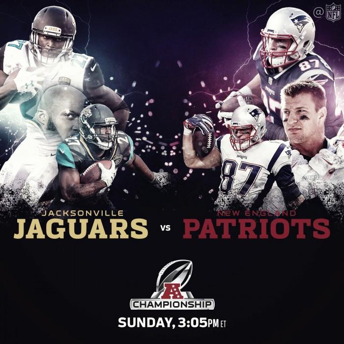 Jacksonville Jaguars vs New England Patriots en vivo y en directo online en Final AFC 2018