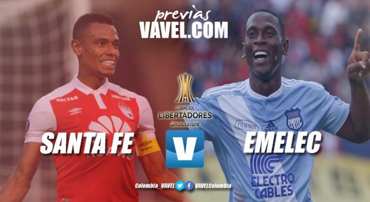 Previa Santa Fe vs Emelec: el 'león' arranca en casa su participación en la fase de grupos de la Libertadores 2018