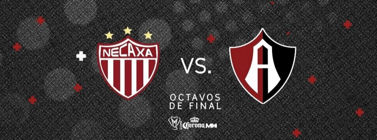 Resultado y goles del Necaxa (2-1) Atlas de octavos de final de Copa MX