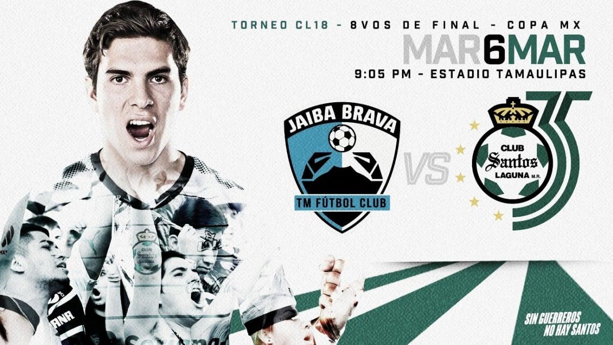 Resultado y goles del Tampico Madero 0-1 Santos Laguna en Copa MX 2018