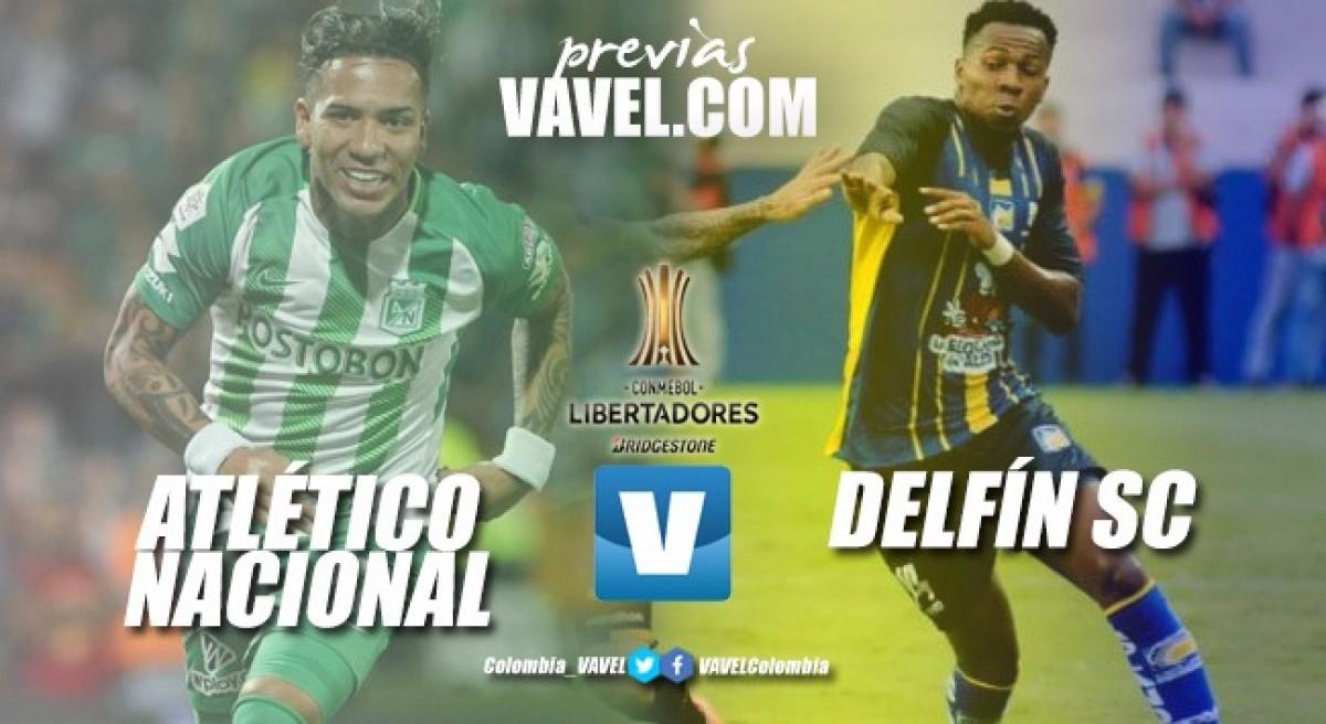 Previa: Atlético Nacional vs Delfín S.C.: Duelo entre histórico y debutante