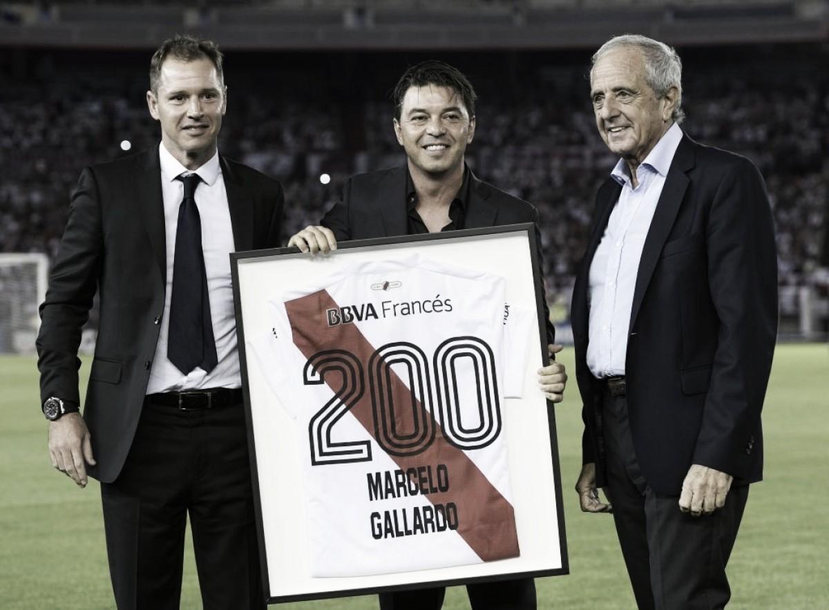 Gallardo alcanzó los 200 partidos como DT de River