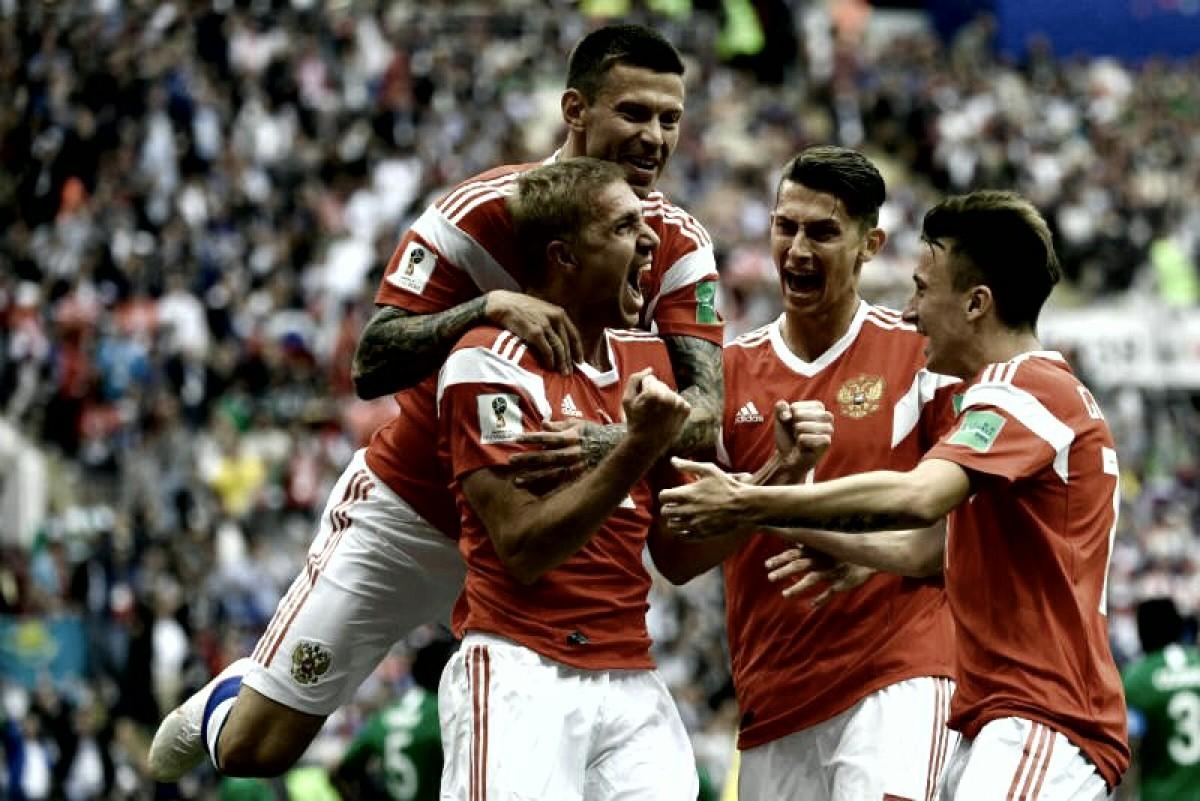 Rusia goleó a Arabia Saudita en el comienzo del mundial