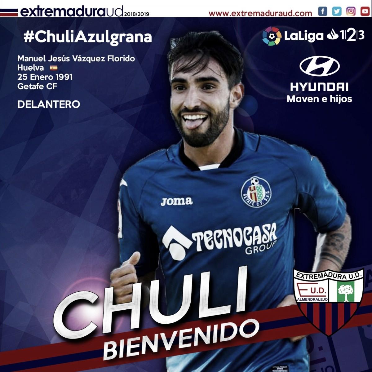 Chuli refuerza el ataque del Extremadura