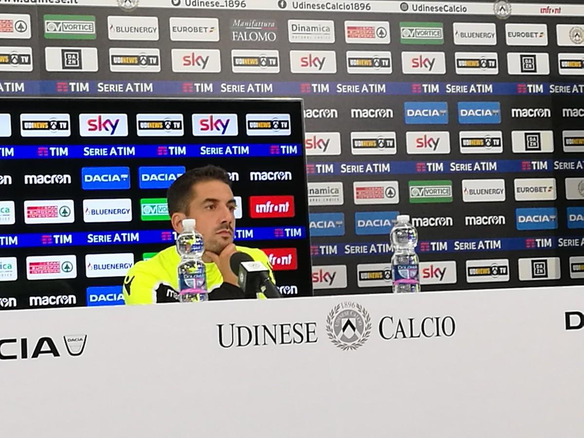 """Udinese - Velazquez: """"Potrei cambiare qualcosa, la Sampdoria sarà molto carica, come sempre"""""""