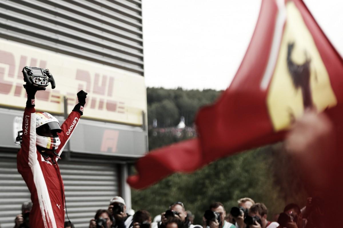 Vettel ganó en Spa