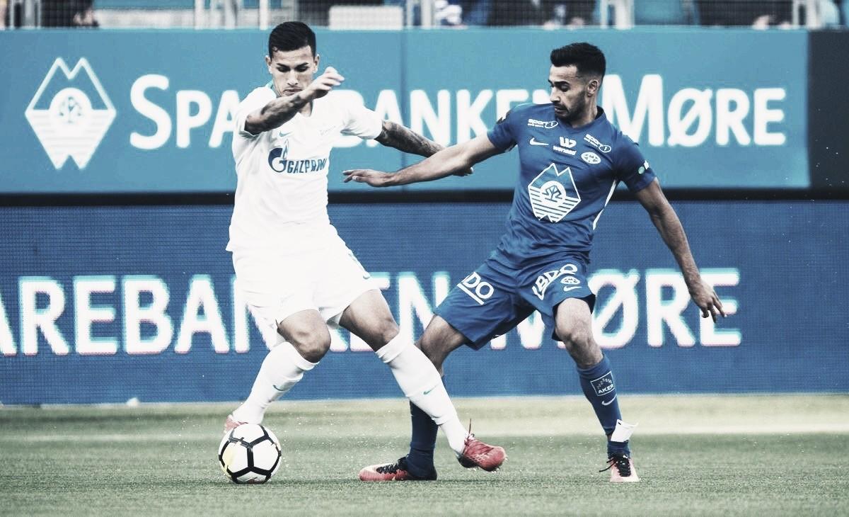 Zenit leva virada fora de casa para Molde, mas avança à fase de grupos da UEL