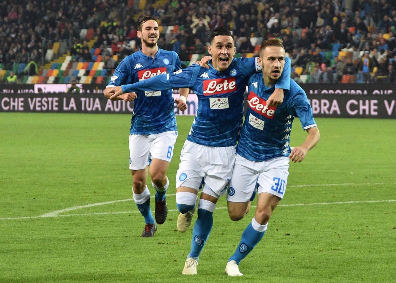Serie A - Il Napoli passeggia sull'Udinese (0-3)