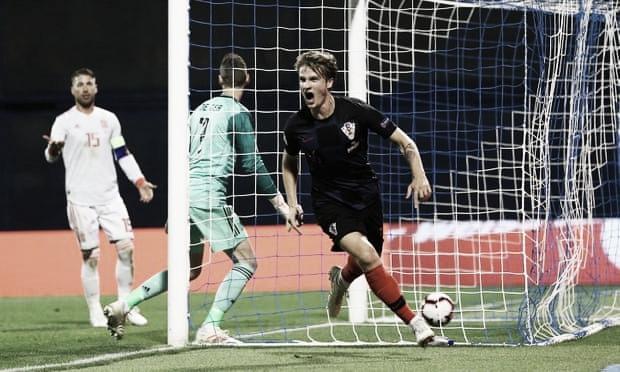 Croácia bate Espanha dentro de casa e vê sobrevida no grupo 4 da Liga das Nações