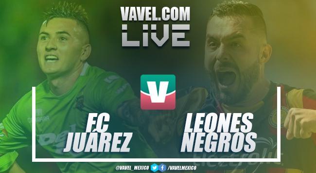 Resumen y goles del FC Juárez 1-1 Leones Negros en Liguilla 2018