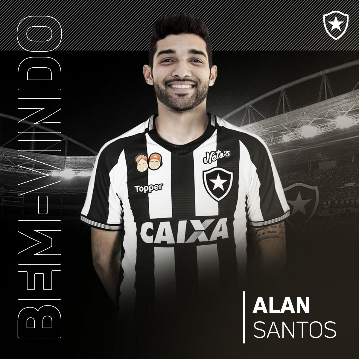Botafogo anuncia contratação do volante Alan Santos, ex-Al Ittihad (EAU)