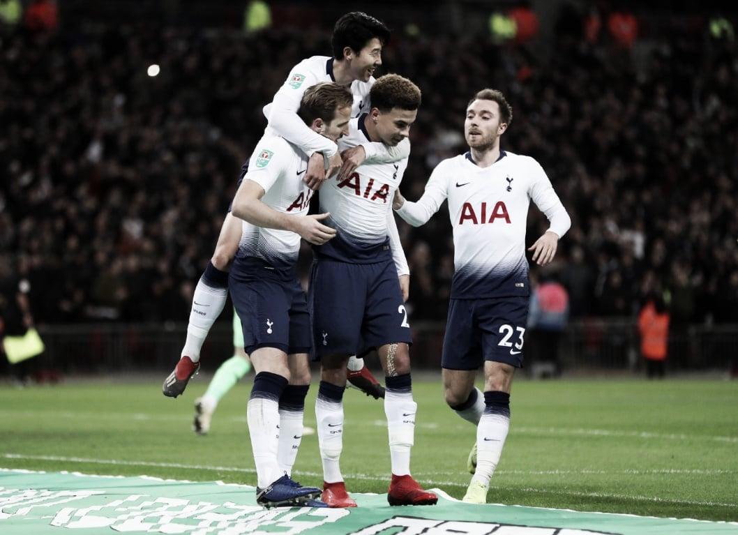Spurs vencem Chelsea e garantem vantagem mínima para partida de volta da semifinal da EFL Cup