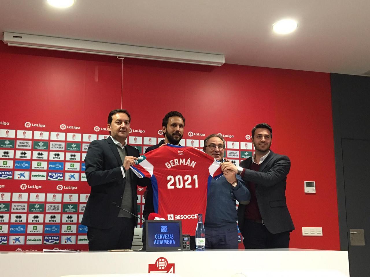 """Germán renueva hasta 2021: """"Es un orgullo seguir en este gran club"""""""