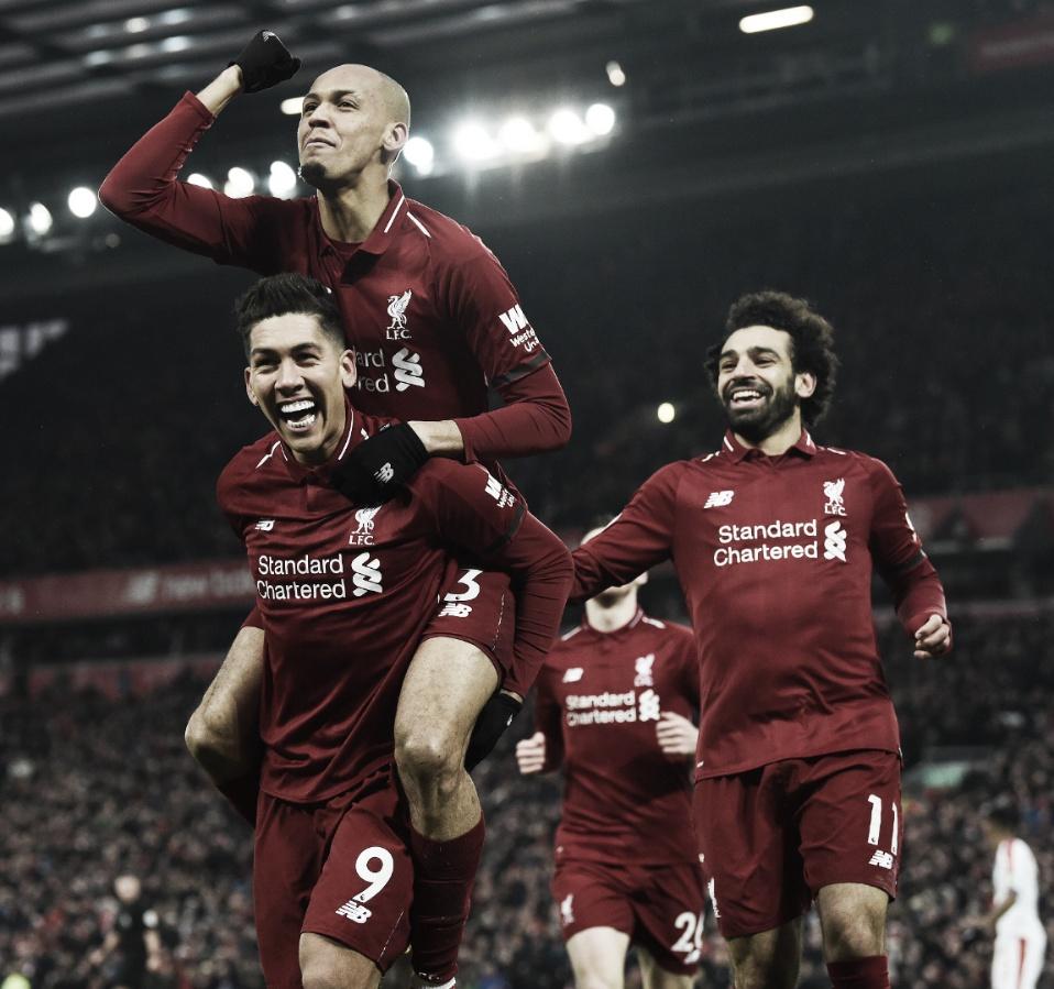 Liverpool faz dever de casa e bate Crystal Palace em Anfield