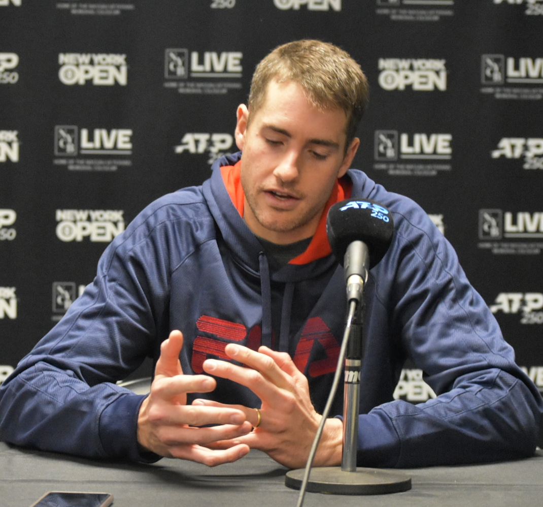 """ATP New York Open: Isner """"very happy to win"""" second round match against Tomic"""