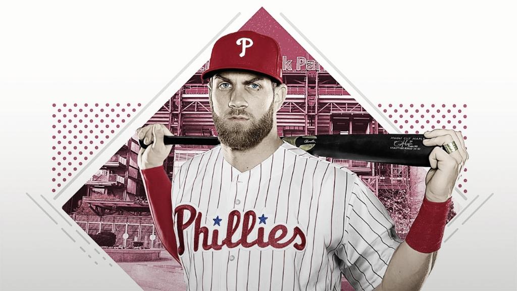 MLB Bryce Harper firmó histórico contrato en MLB