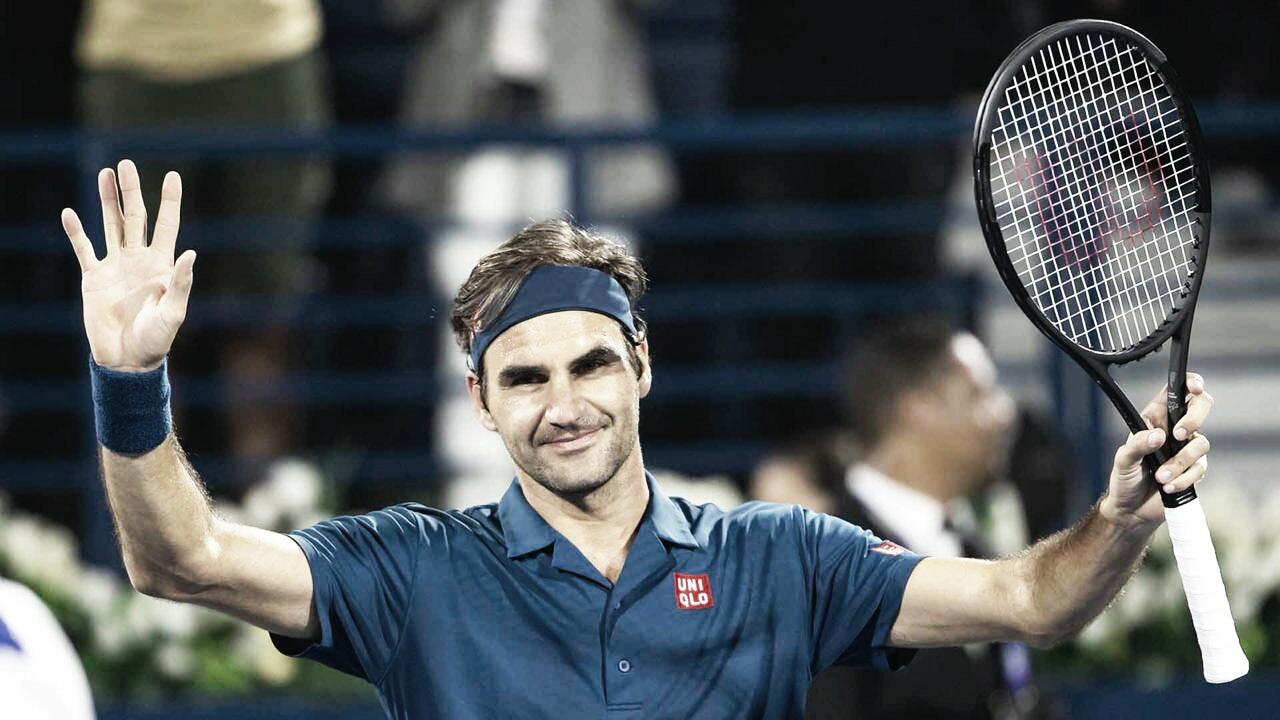Federer atropela Coric e vai em busca do 100° título da carreira na decisão em Dubai