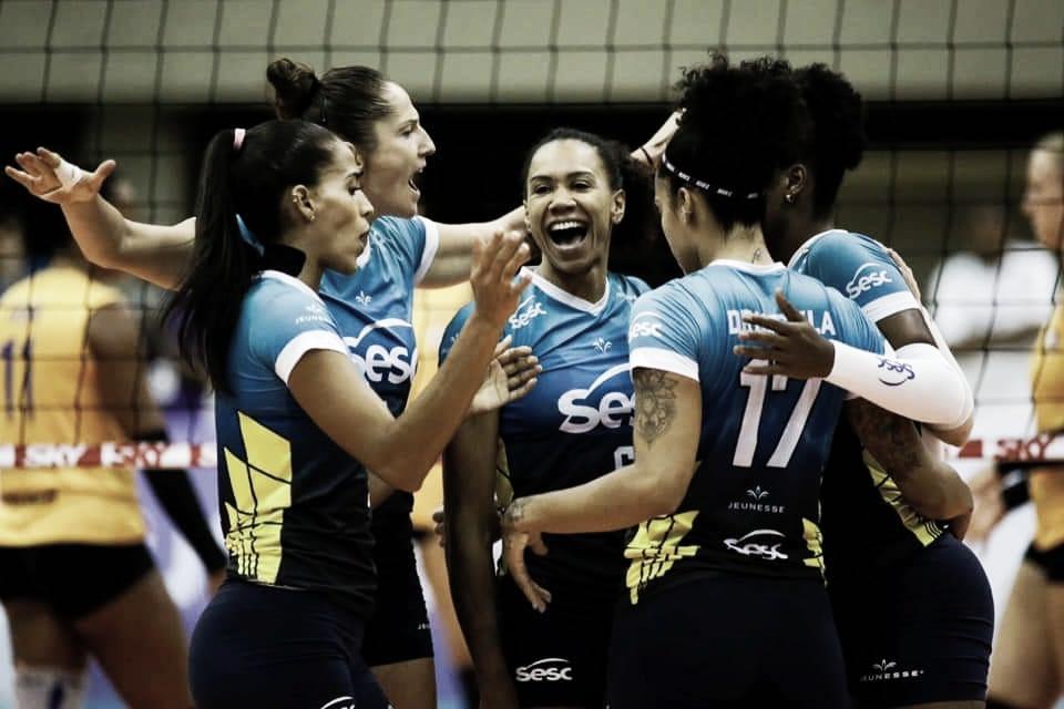 Com tranquilidade, Sesc-RJ derrota Balneário Camboriú pela Superliga feminina