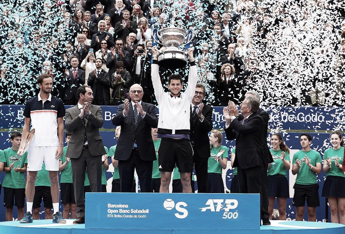 Thiem confirma favoritismo, bate Medvedev e é campeão do ATP 500 de Barcelona