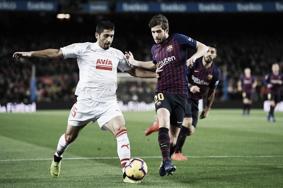 Jogo Eibar x Barcelona AO VIVO online pelo Campeonato Espanhol (2x2)