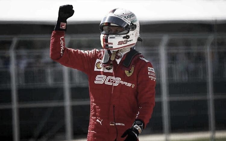Vettel le robó la pole a Hamilton