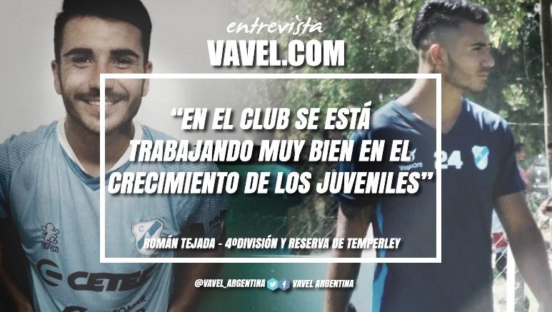 """Entrevista. Román Tejeda: """"Vivíy tambiénhe visto que en otros clubes a veces los juveniles no son prioridad para tener un proyecto a futuro, yeso después en un futuro se ve reflejado"""""""