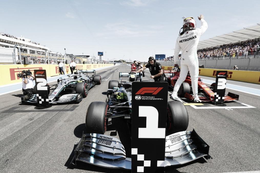 Na última volta! Em briga dura com Bottas, Hamilton consegue pole no GP da França