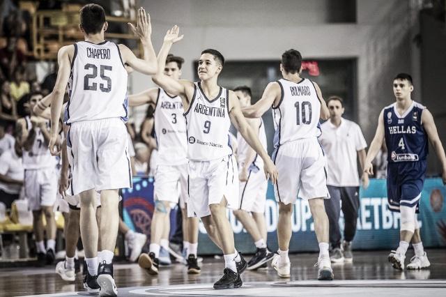 Argentina remontó a Grecia en el Mundial U19 y terminó primera