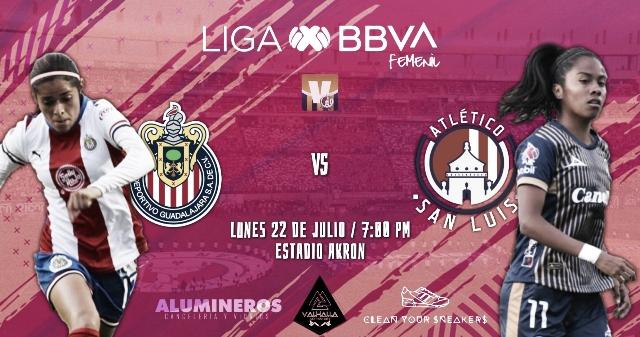 Previa Chivas Femenil - Atlético de San Luis Femenil: Por las primeras unidades