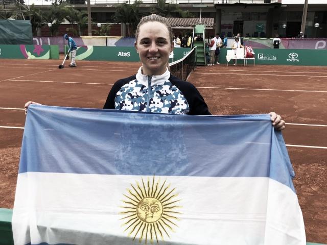 Lima 2019: Nadia Podoroska ganó la medalla dorada en dramático partido