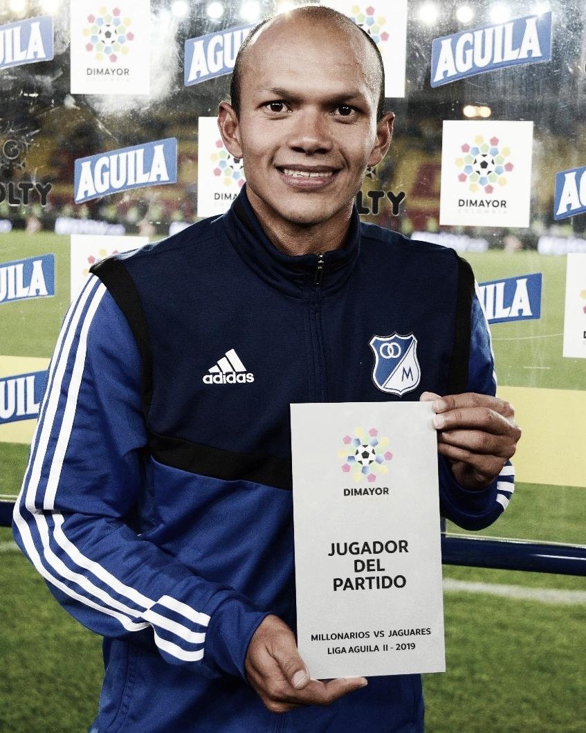 Juan David Peréz, el mejor en el encuentro Millonarios-Jaguares