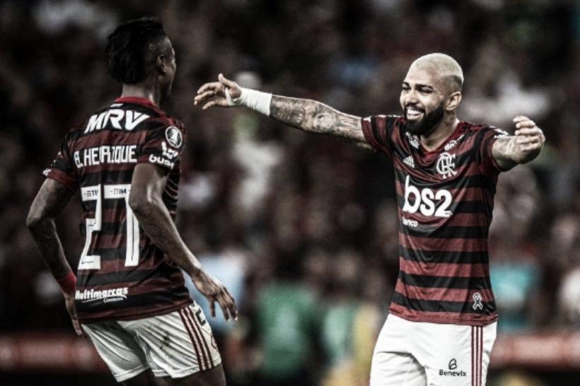 """Que dupla! Gabigol comenta boa fase de Bruno Henrique: """"Muito feliz por ele"""""""