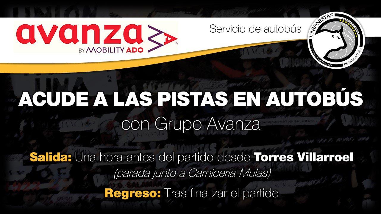La empresa Grupo Avanza te lleva al partido entre Unionistas y Haro en bus