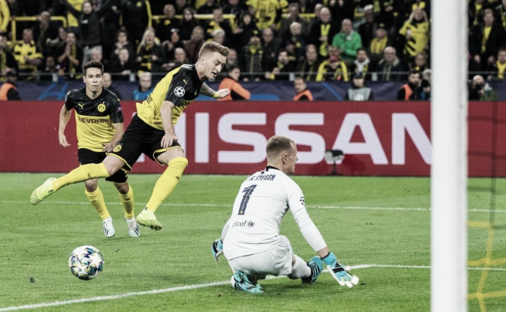 Borussia Dortmund perde pênalti e empata com Barcelona na estreia da Champions