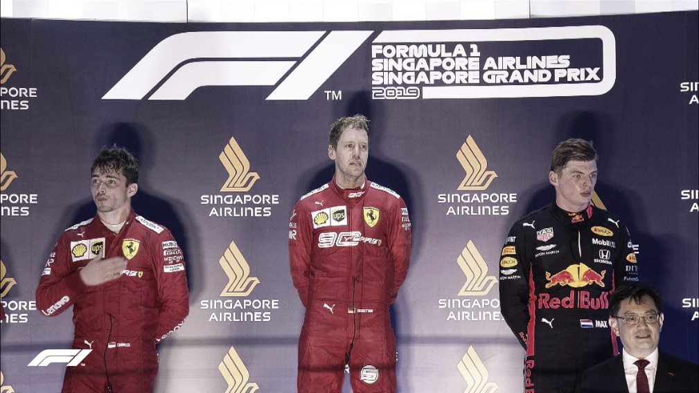 Verstappen exalta batalha com Lewis; Vettel e Leclerc celebram dobradinha da Ferrari