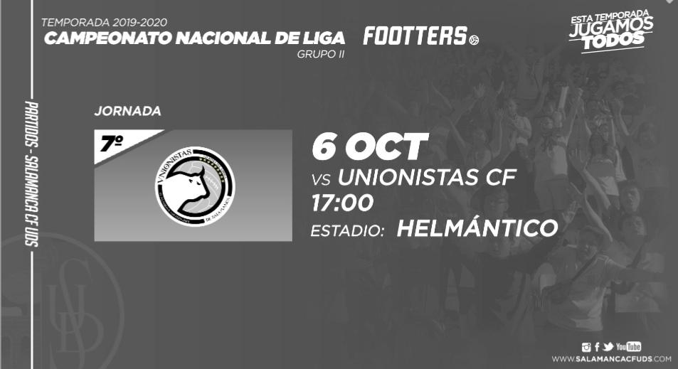 El domingo 6 de Octubre a las 17:00 se jugará el derbi charro: Salamanca CF - Unionistas
