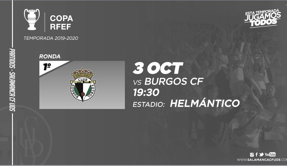 Horario confirmado para el Salamanca CF - Burgos de Copa Federación
