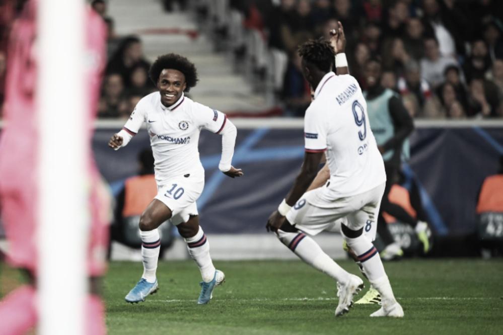 Chelsea domina, derrota Lille com gol de Willian e se recupera na Champions