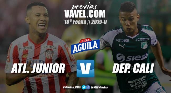 Previa Junior de Barranquilla vs. Deportivo Cali: tres puntos para seguir en el grupo de los ocho