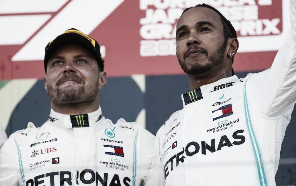 Hamilton diz que'Valtteri mereceu a vitória' e elogia ano da Mercedes