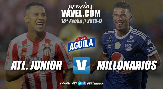 Previa Junior de Barranquilla vs. Millonarios: por quedarse entre los ocho mejores