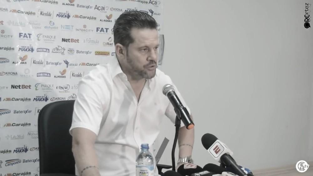 Argel destaca 'grande partida' do CSA mesmo em derrota para o Athletico-PR
